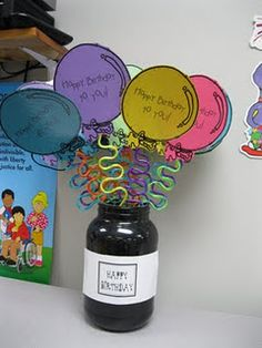 Birthday balloon treats to display in September and then can create class graph to display...