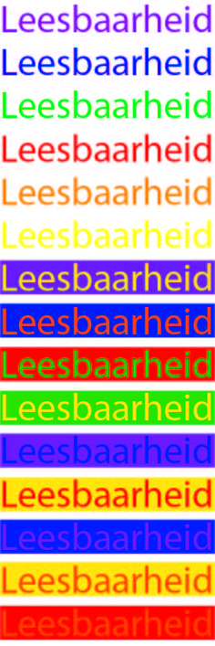 Opdracht 8b - Kleur: Leesbaarheid