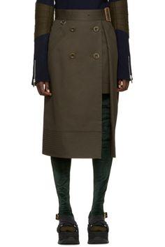 Tall velvet and rib knit socks in 'khaki' green. Tonal stitching.