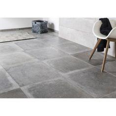 Carrelage sol et mur gris cendre effet béton Harlem l.60 x L.60 cm | Leroy Merlin