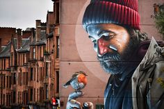 A view of one of the latest murals near Glasgow cathedral on October 26, 2016 in Glasgow, Scotland. The murals have been appearing across the city for a since 2008 with new ones appearing on a regular bases rejuvenating bare walls revitalizing tired corners of Glasgow. Now a new Mural Trail has been devised with a huge range of them on display within a short walking distance from the city center