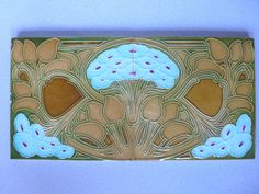 2 x floral Jugendstil Fliese Kachel art nouveau tile tegel carreau Hemixem Paar