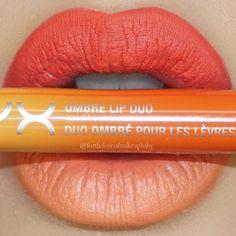 "@nyxcosmetics Ombré Lip Duo in ""Peaches & Cream"" I love #NYX lipsticks they are so creamy and pigmented!"