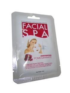 Pomegranate Facial Spa Mask Pack of 1 by Facial Spa. $0.99. Anti-Wrinkle, Blemish Clearing, Lightening, Moisturizer, Nourishing. This mask soothes, and revitalizes aged and tired skin, and provides intensive moisture to help form a protective layer on the skin. This treatment keeps skin smooth, firm, and more healthy - keeping you looking young.