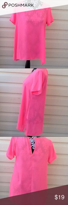 NWT Lush Neon Pink Top Beautiful Lush size S top.New no price in tag, Back keyhole cut out . Brand new unused, unworn. Lush Tops Blouses