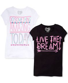 Belle Du Jour Girls' Graphic Tee - Kids - Macy's BLACK