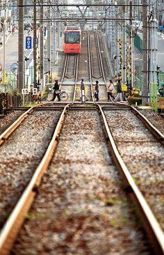 The Toden Arakawa line runs along Shitamachi, Tokyo.