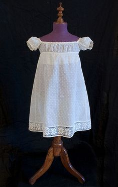 Child's hand-embroidered dress, c.1800, from the Vintage Textile archives.