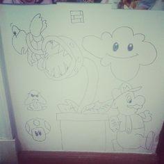 #Graffiti #cartoon #sharpie #Mario