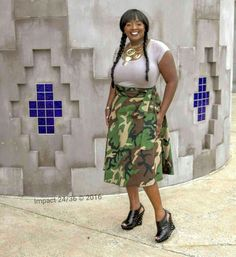 Camoflouge Wrap Skirt  Photo cred: @impact2436 #jdprofiles #fashion #blogger #influencer #stylist #impact2436 #camo #camoflauge #wrapskirt