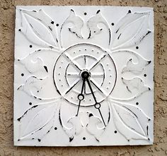 Tin Ceiling Tile Clock, craft tutorial