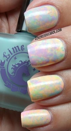Lime Crime nail polishes from the collection Les Desserts d'Antoinette (Milky Ways, Peaches♥Cream, Lavendairy, Parfait Day, Crema de Limón, Pastelchio, Once In A Blue Mousse)