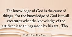 Thomas Aquinas Quotes About Knowledge - 39259