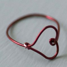 Dollar store crafts! Wire heart ring