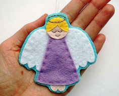 Sew a cute felt angel ornament this Christmas with my step-by-step angels sewing pattern! The PDF includes templates and instructions for sewing two styles of felt angel ornament, plus an angel embroidery pattern and an angel Christmas card tutorial. Felt Patterns, Pdf Sewing Patterns, Embroidery Patterns, Felt Christmas Ornaments, Christmas Angels, Christmas Crafts, Christmas Tree, Felt Diy, Felt Crafts