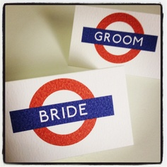London Underground inspired place cards
