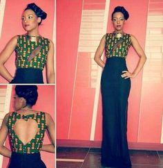 Dress African Green
