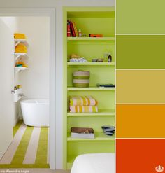 Citric sunshine style, that's what this collection of colours bring to the table . . . or wall, or furniture or door!