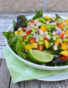 Mango and Edamame Salad with Lime Vinaigrette by Eat Spin Run Repeat