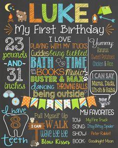 Camping Birthday Chalkboard Customized Digital File - Boy First Birthday - Outdoors Birthday - Printable Digital File 1st Birthday Board, Baby 1st Birthday, Boy Birthday Parties, Chalkboard Doodles, Chalkboard Signs, Cake Smash Backdrop, Birthday Photos, Birthday Ideas, First Birthday Chalkboard