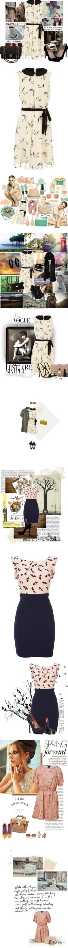 """""""Fly Away: The Birds"""" by polyvore-editorial ❤ liked on Polyvore"""