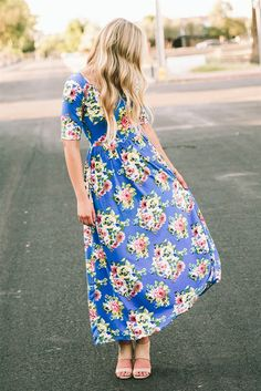 We are so excited about our gorgeous new floral maxi dresses! These are the definition of quality and comfort, featuring a back zipper that goes through the waist and short sleeves that give the perfect amount of coverage. The fabric is super stretchy and durable. What says Spring and Summer better than a bright beautiful floral dress? You will absolutely love it!
