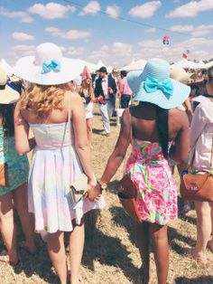 Me and my bestfriend when we go to the Carolina Cup.