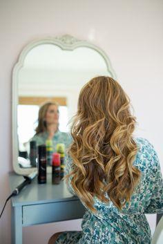 Half-Up Braid Tutorial - step 3 hair curled