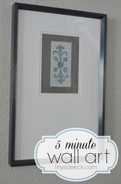DIY wall art--great way to break up a wall of family photos