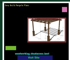 Easy Build Pergola Plans 220200 - Woodworking Plans and Projects!