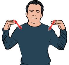 Workout Description: Both flat open hands move up and down from shoulders. Definition: A period or program of physical exercise. Also Means: exercise - See more at: http://www.british-sign.co.uk/british-sign-language/how-to-sign/workout/#sthash.hxw5wXqe.dpuf