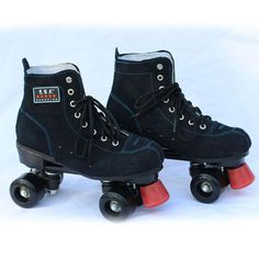 NEW Black Unisex Adult Classic Quad Roller Skates Boots Outdoor Indoor Double Line 4 Wheels Roller Shoes