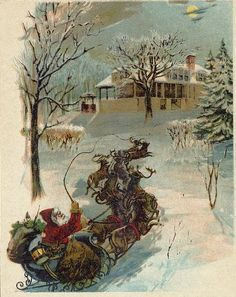 """1870 illustration from """"T'was the Night Before Christmas"""""""