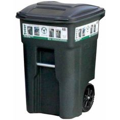Walmart Outdoor Trash Cans Best United Solutions Trashmaster 32 Gallon Wheeled Trash Can With Turn Review
