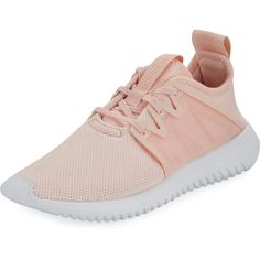 Adidas Tubular Viral2 Knit Sneaker (1.330.800 IDR) ❤ liked on Polyvore featuring shoes, sneakers, pink, adidas sneakers, lace up shoes, laced flats, flat shoes and pink sneakers
