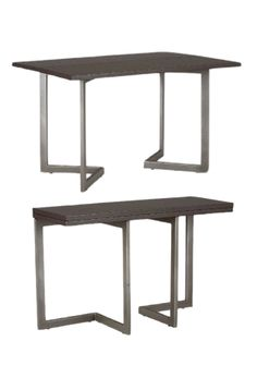 """The Conal 60"""" Dining Table comfortably fits you and 5 friends, but can also convert it's fliptop into a writing desk or console table for one to push against the wall. #multitalented 
