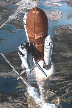 """T-Plus 30"" by Mark Waki. #markwaki #nasa #spaceshuttle"