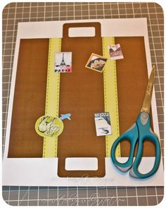 Suitcase template- done with my kids today and it worked! wahooooo!