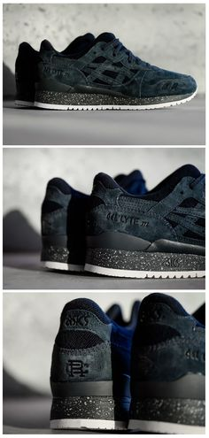 Reigning Champ x Asics Gel Lyte III: Midnight Navy