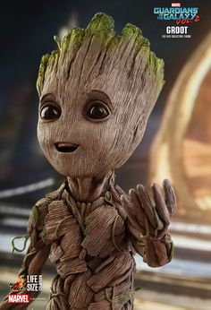 Fan-favorite figure makers Hot Toys have revealed their life-size Baby Groot figure from Guardians of the Galaxy Vol. Get your own Baby Groot next year! Baby Groot, Marvel Dc Comics, Marvel Heroes, Marvel Avengers, Avengers Series, I Am Groot, Marvel Wallpaper, Avengers Infinity War, Guardians Of The Galaxy