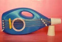 Ideas para hacer #guitarra de #juguete con #garrafa de suavizante  #HOWTO #DIY #ecología #reciclar #reutilizar