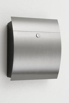 Designer Boîte aux lettres modèle 333 in Anthracite ral7016 avec journal rôle