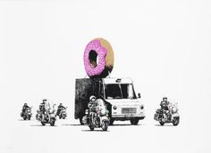 "Banksy ""Strawberry Donut"""
