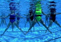 Water aerobics...the deep end.