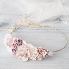 Braut Krone Hochzeit Blume Krone Krone rosa Blume Blume