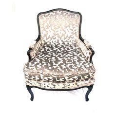 green animal print chair | Dasha Bergere silver, vintage, the divine chair