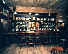 Cool wood bar interior.