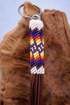 Navajo Beaded Key Chains | Native American Beadwork | Beaded Native American Jewelry