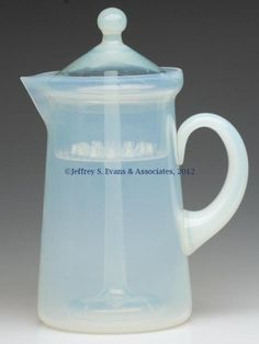 Fry Art Glass Coffee Pot, Foval, complete with all-glass insert.