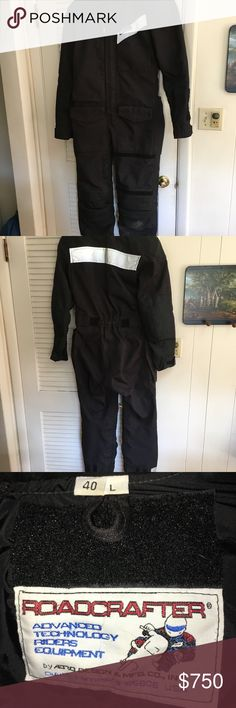 Aerostitch Motorcycle Suit Classic, one-piece Roadcrafter riding suit.  Like new with all standard ballistics and armor.  Worn very little - like new.  Black on black size 40 L without any custom tailoring. Aerostitch Other